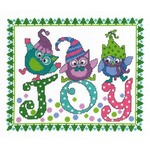 "9.75""X8"" 14 Count - Holiday Blues Counted Cross Stitch Kit"