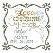 """9.5""""X9.5"""" 14 Count - Honoring Marriage Wedding Record Counted Cross Stitch Kit"""