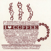 "8.75""X8.75"" 14 Count - Let's Do Coffee Counted Cross Stitch Kit"
