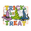 "10.5""X7.75"" 14 Count - Trick Or Treat Counted Cross Stitch Kit"