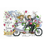 "8.75""X5.75"" 14 Count - Wedding Ride Wedding Record Counted Cross Stitch Kit"