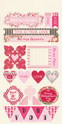 Adore Components Cardstock Sheet - Authentique