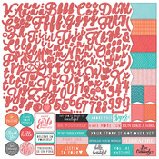 Like A Girl Alpha Sticker Sheet - Photoplay