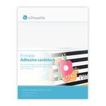 "White - Silhouette Printable Adhesive Cardstock 8.5""X11"" 8/Pkg"