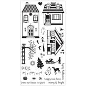 Happy Home - Sizzix Clear Stamps By Rachael Bright