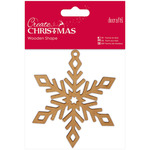 Snowflake - Papermania Create Christmas Wooden Shape