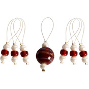 Amaryllis - Zooni Stitch Markers W/Colored Beads 7/Pkg