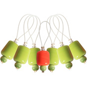 Holly - Zooni Stitch Markers W/Colored Beads 7/Pkg