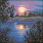 "6""X6"" 18 Count - Evening Counted Cross Stitch Kit"