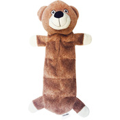 Brown - Nandog My Bff Suede Squeaker Bear Toy