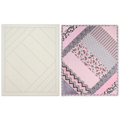 Sophisticated Strips - Quilt As You Go Printed Quilt Blocks On Batting