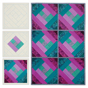 London Labyrinth - Quilt As You Go Printed Quilt Blocks On Batting