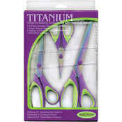 Purple/Green - Titanium Scissors 3/Pkg