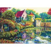 """14""""X10"""" 18 Count - Gold Collection English Castle Counted Cross Stitch Kit"""