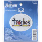 "2.75"" Oval 18 Count - Teacher Mini Counted Cross Stitch Kit"