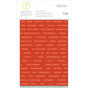 1 Sheet Of Red & 1 Sheet Of Aqua - Seven Paper Felix Gold Foil Word Stickers 2/Pkg