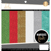 "Marquee Love Christmas - Heidi Swapp Glitter Paper Pad 8.5""X8.5"" 18/Pkg"