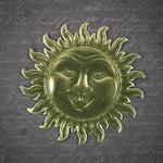 Sun Face/Gold Dresden Paper Trim - Relics & Artifacts -  Prima