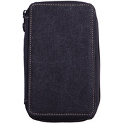 Black - Canvas Pencil Case Holds 48