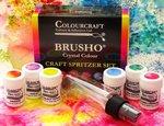 Brusho Crystal Colours Craft Spritzer Set 6/Pkg