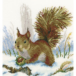 "8.75""X8"" 14 Count - Winter Morning Counted Cross Stitch Kit"