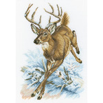 """8.75""""X13"""" 14 Count - Forest Deer Counted Cross Stitch Kit"""