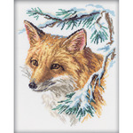 """9""""X11.5"""" 14 Count - The Fox Counted Cross Stitch Kit"""