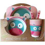Owl - Bamboo Fiber Kids Plate Set