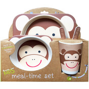 Monkey - Bamboo Fiber Kids Plate Set