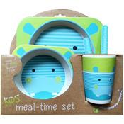 Hippo - Bamboo Fiber Kids Plate Set