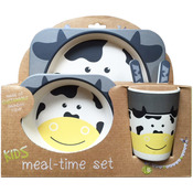 Cow - Bamboo Fiber Kids Plate Set