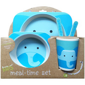 Blue Elephant - Bamboo Fiber Kids Plate Set