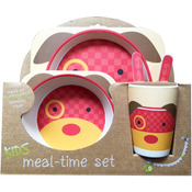 Puppy - Bamboo Fiber Kids Plate Set