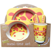 Giraffe - Bamboo Fiber Kids Plate Set