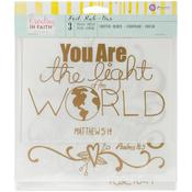 Let All Phrase Gold Foil Large Rub Ons - Creating In Faith - Prima