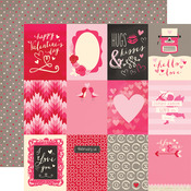 Journaling Cards 3 x 4 Paper - Blowing Kisses - Echo Park