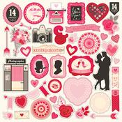 Blowing Kisses Element Stickers - Echo Park