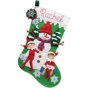 "18"" Long - Elf On The Shelf Stocking Felt Applique Kit"
