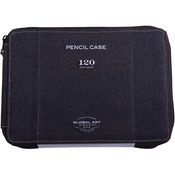 Black - Canvas Pencil Case Holds 120