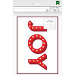 "Joy W/Gold Foil - American Crafts Cards W/Envelopes 5""X7"" 8/Pkg"