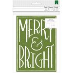 "Merry & Bright W/Foil - American Crafts Cards W/Envelopes 5""X7"" 8/Pkg"