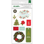 Celebrate Shapes & Phrases - Holiday Remarks Chipboard Stickers