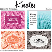 Knotes - Knitting Note Card Set 8/Pkg
