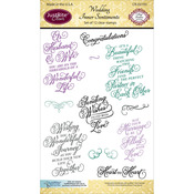 """Wedding Inner Sentiments - JustRite Papercraft Clear Stamps 4""""X6"""""""