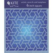 "Cane Weave - Judikins 6"" Square Kite Stencil"