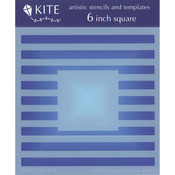 "Blocked-Out Stripes - Judikins 6"" Square Kite Stencil"