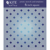 "Regal Diamonds - Judikins 6"" Square Kite Stencil"