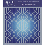 "Fancy Trellis - Judikins 6"" Square Kite Stencil"