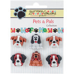 Dog Days - Buttons Galore Pets & Pals 6/Pkg