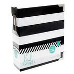 Heidi Swapp Black & White Stripe Storage Binder Memory Planner